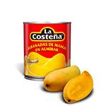 Mango rebanadas en almibar